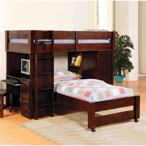 Aldana Twin over Twin L-Shaped Bunk Bed by Harriet Bee