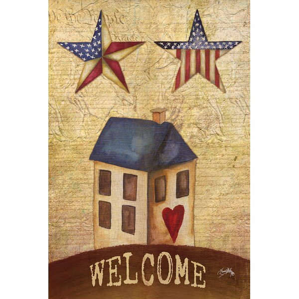 American Stars Welcome Garden flag by Toland Home Garden