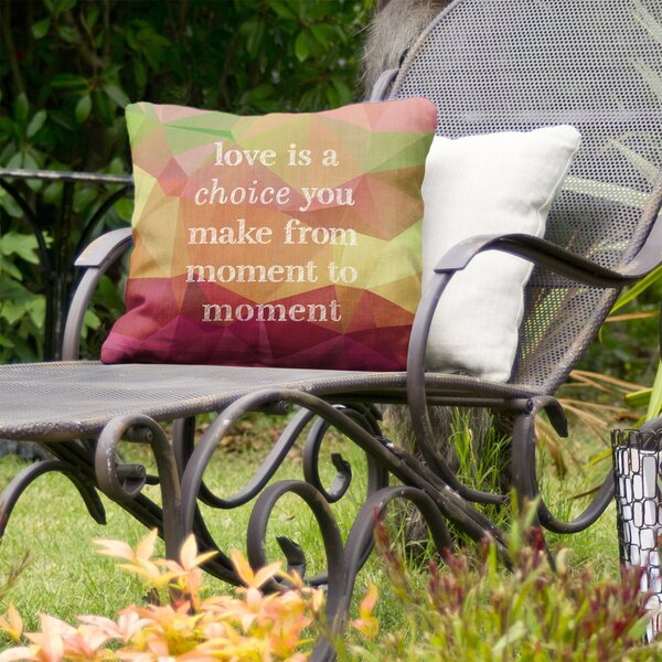 Love is A Choice Indoor/Outdoor Throw Pillow