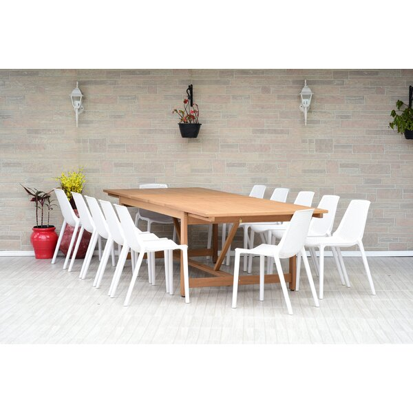 Claudio 13 Piece Dining Set by Mercury Row