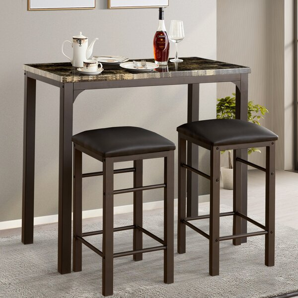 Tappahannock 3 Piece Counter Height Dining Set By Fleur De Lis Living