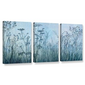 'Wildflowers Early' by Cora Niele 3 Piece Graphic Art on Wrapped Canvas Set by ArtWall
