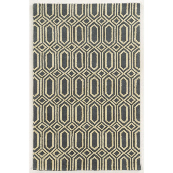 Holyhead Hand-Tufted Grey/Beige Area Rug by Meridian Rugmakers