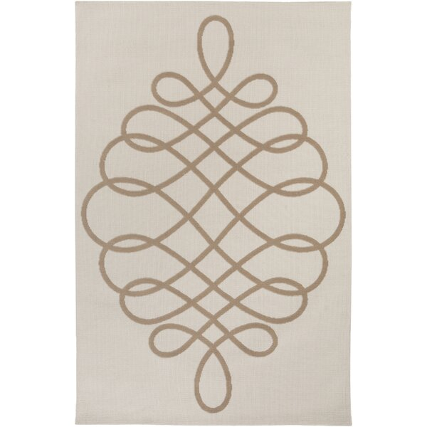 Kersten Ivory/Tan Area Rug by Ophelia & Co.