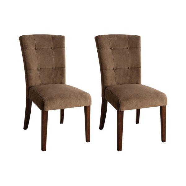 Kleopatra Velvet Side Upholstered Dining Chair (Set Of 2) By Latitude Run