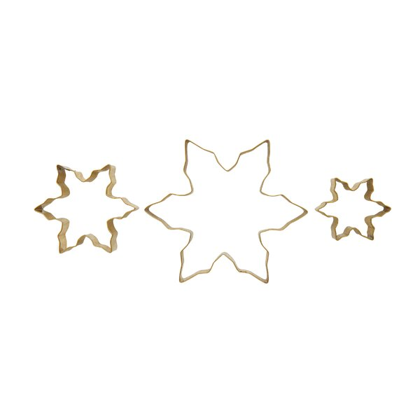 Costello 3 Piece Snowflake Stainless Steel Cookie Cutter Set by The Holiday Aisle