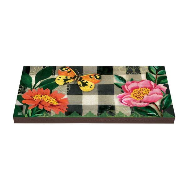 Butterfly in Check Stepping Stone by Studio M