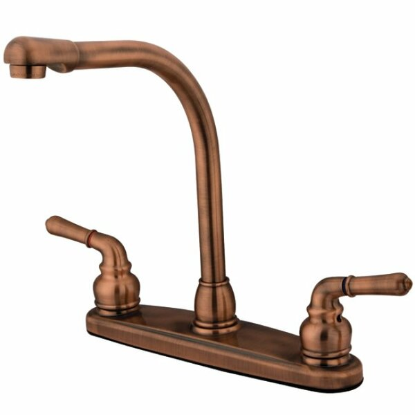 Magellan Double Handle Kitchen Faucet with Side Spray by Kingston Brass