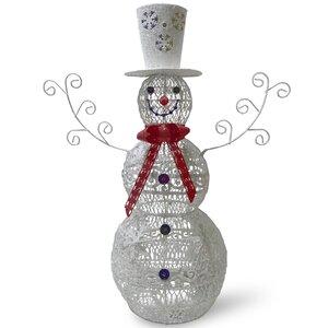 Metal Snowman Christmas Oversi...