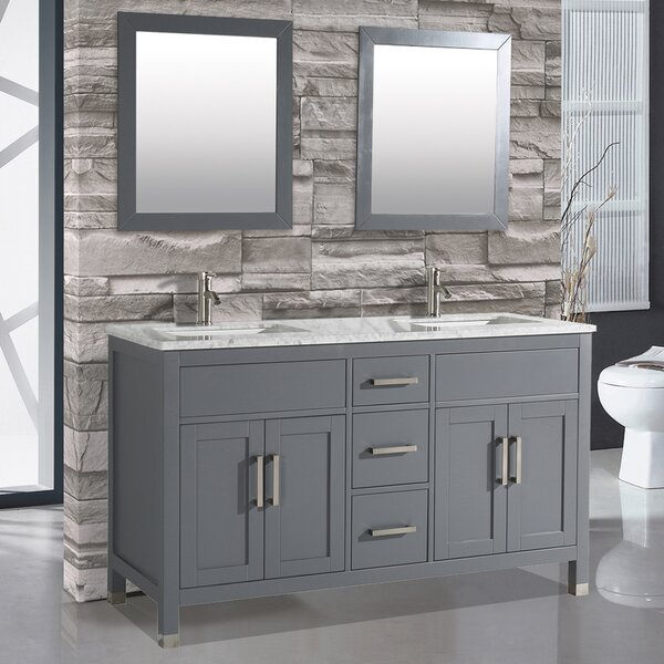 Denault 60 Double Bathroom Vanity Set by Brayden Studio
