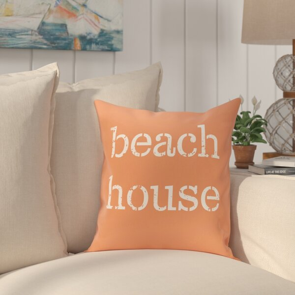 Cedarville Beach House Outdoor Throw Pillow by Highland Dunes