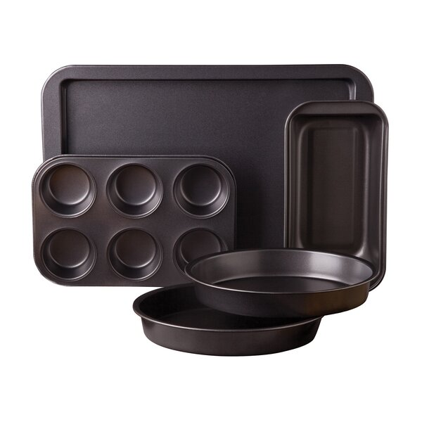 5 Piece Non-Stick Carbon Steel Bakeware Set by Sunbeam