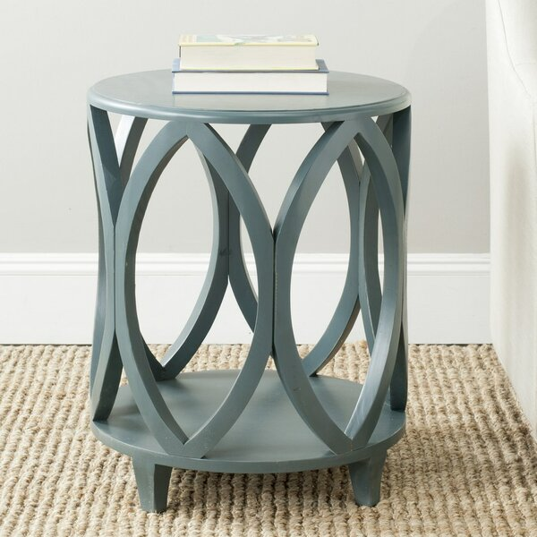 Sadie Solid Wood End Table with Storage by Highland Dunes Highland Dunes