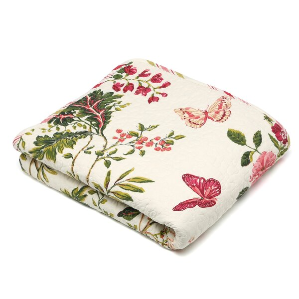 Annaelle Quilted Cotton Throw by Lark Manor