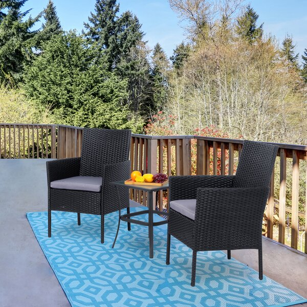 Luft 3 Piece Seating Group with Cushions by Winston Porter