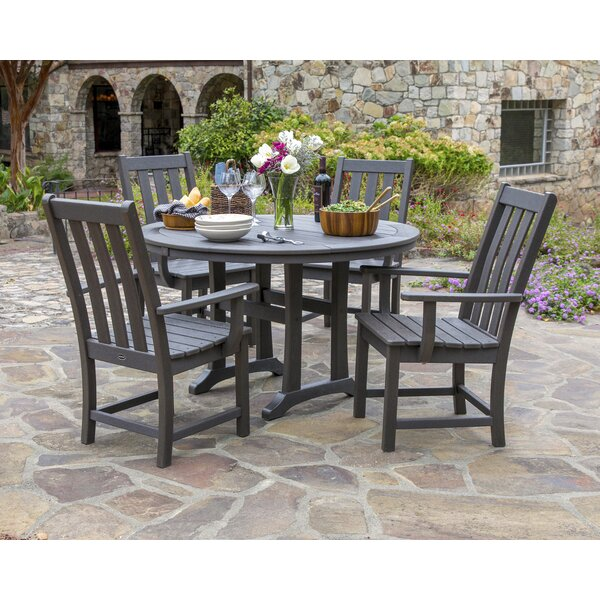 Vineyard Nautical Trestle 5 Piece Dining Set by POLYWOOD®