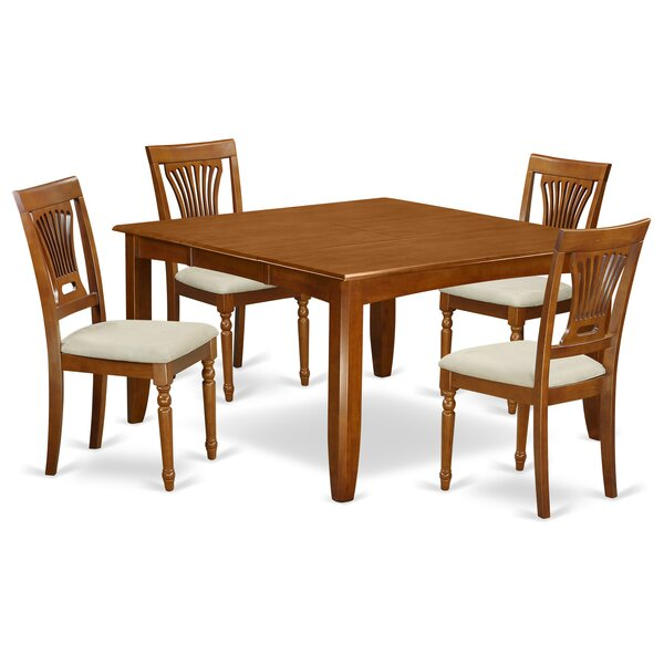 Parfait 5 Piece Dining Set by Wooden Importers