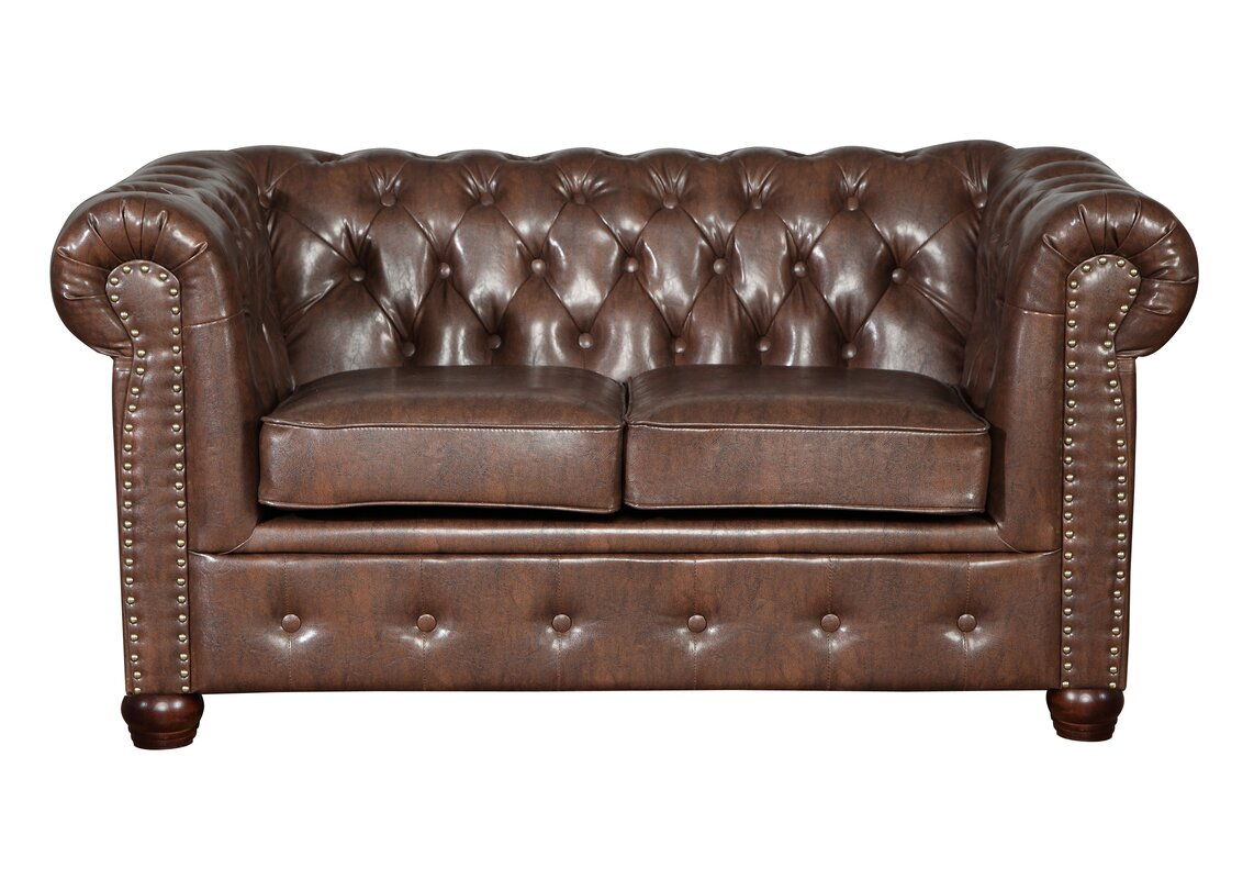 Home Haus Oxford 2 Seater Chesterfield Sofa Reviews Wayfair  ~ Chesterfield Brown Sofa
