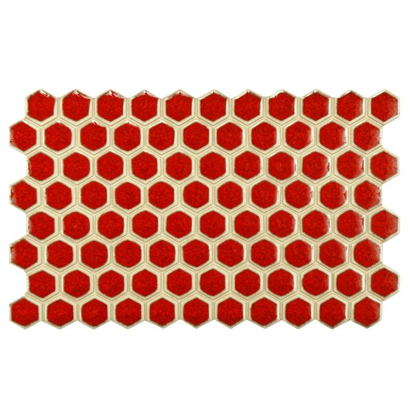 Genoa 9 x 5.5 Porcelain Mosaic Tile in Red by EliteTile