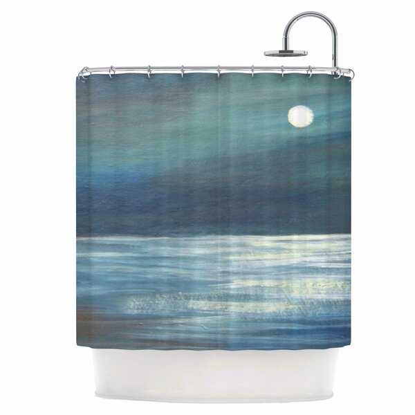 A Walk in The Moonlight Shower Curtain by East Urban Home