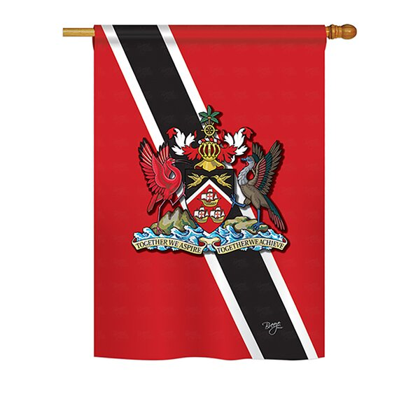 Trinidad and Tobago 2-Sided Vertical Flag by Breeze Decor