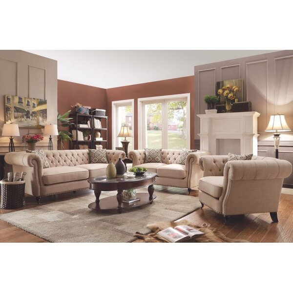 Tallulah 3 Piece Living Room Set by One Allium Way