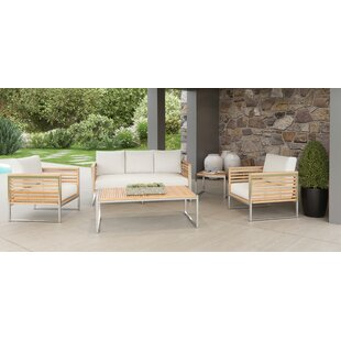 Markowitz 5 Piece Teak Sofa Set with Cushions By Brayden Studio