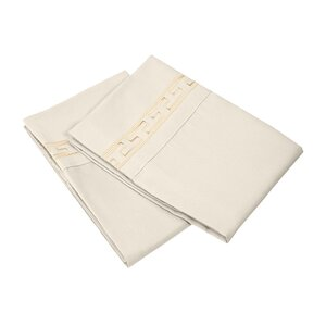 Garrick 3000 Series Solid Regal Embroidery Pillowcase (Set of 2)