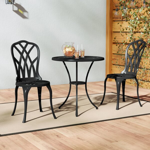 Karns Aluminium 3 Piece Bistro Set by Charlton Home