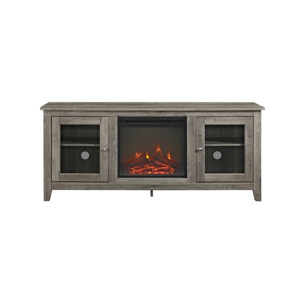 Inglenook 58 TV Stand with Fireplace by Andover Mills