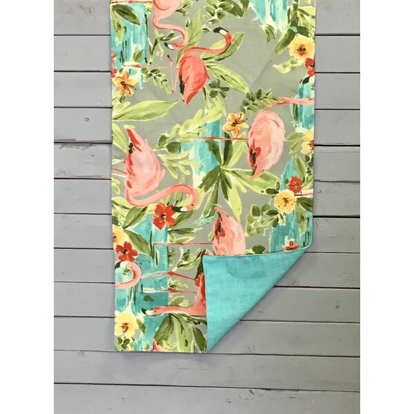 Marin On the Pond Flamingos Reversible Table Runner by Bay Isle Home