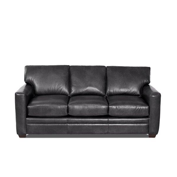 Carleton Leather Sofa Bed By Wayfair Custom Upholstery™ 2019 Coupon