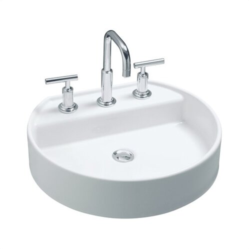 Chord Ceramic Oval Vessel Bathroom Sink by Kohler