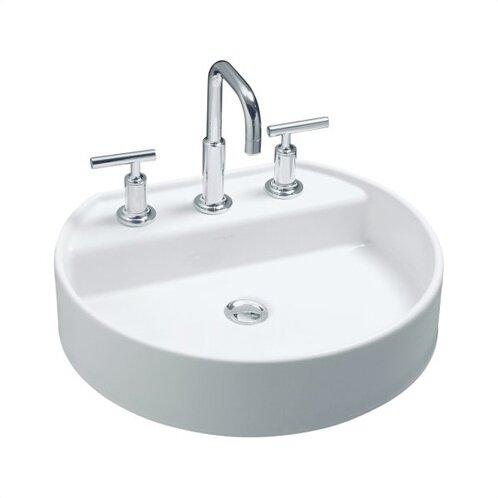 Chord Ceramic Oval Vessel Bathroom Sink by Kohler