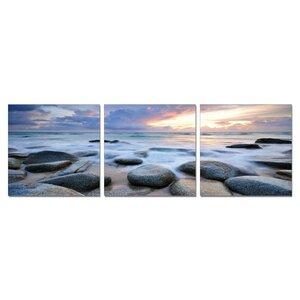 'Rocks, Waves, Sky' 3 Piece Photographic Print Set by Latitude Run