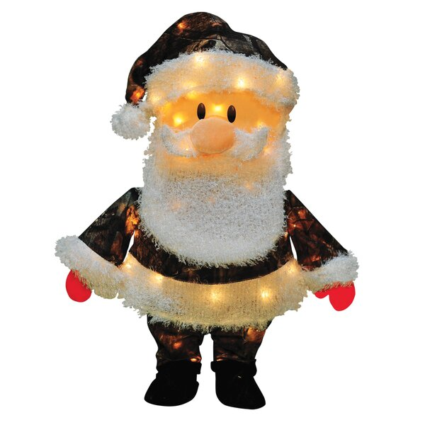 Candy Lane Santa Claus in Camo Yard Art Christmas Decoration by Product Works