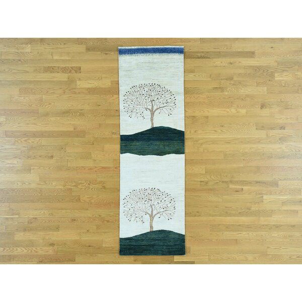 One-of-a-Kind Becker Folk Art Hand-Knotted Wool Area Rug by Isabelline