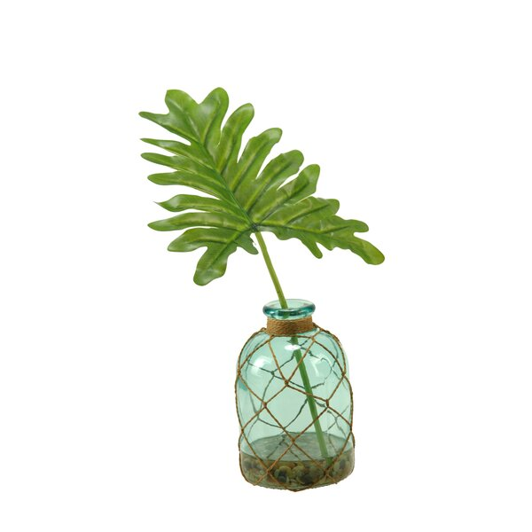 Selloum Philo Plant in Decorative Vase by Bay Isle Home