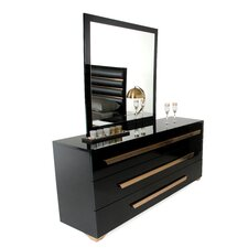 Langlais 3 Drawer Dresser with Mirror by Willa Arlo Interiors