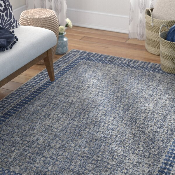 Arabi Blue Area Rug by Bungalow Rose