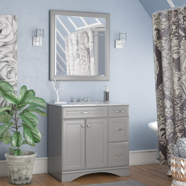 Jonina 36 Bathroom Vanity Set with Mirror by Willa Arlo InteriorsJonina 36 Bathroom Vanity Set with Mirror by Willa Arlo Interiors
