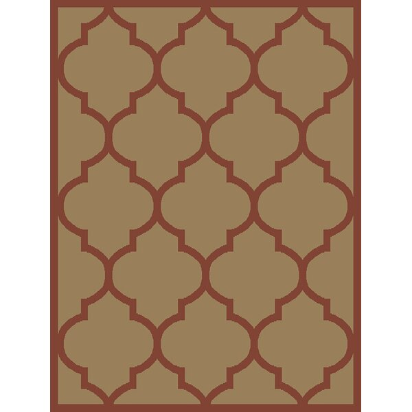 Hinson Moroccan Trellis Red/Ivory Area Rug by Winston Porter