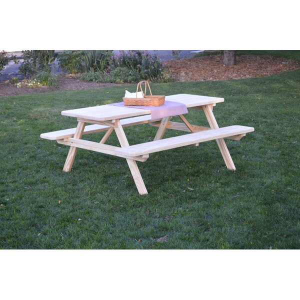 Breedlove Solid Wood Picnic Table by Loon Peak