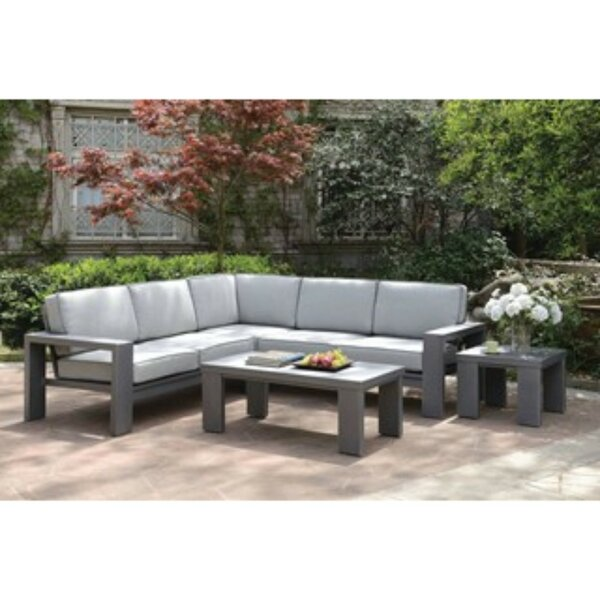 Derwent 2 Piece Rattan Sectional Seating Group With Cushions By Orren Ellis