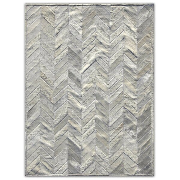 Patchwork Cowhide Yves Ivory Area Rug by Pure Rugs