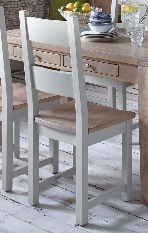 Hazelwood home esszimmerstuhl set chalky aus massivholz - Esszimmerstuhle massivholz ...
