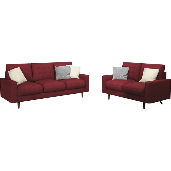 Sanborn 2 Piece Living Room Set by Hashtag Home Hashtag Home