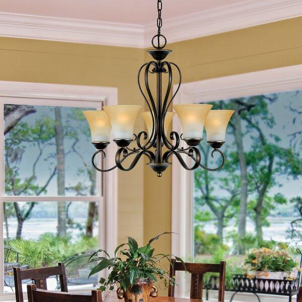 Alluvial 5-Light Shaded Classic / Traditional Chandelier by Fleur De Lis Living Fleur De Lis Living