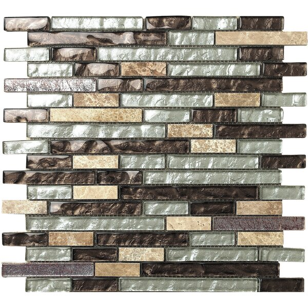 Marbella Marron Glass Mosaic Tile in Brown/Beige by Kertiles