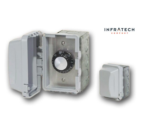 INF In-Wall Waterproof Control Thermostat By Infratech